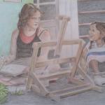 Twee jonge kunstenaars
