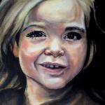 Portretschilderij van buurmeisje
