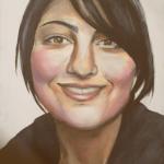Schilderij-portret van een vriendin